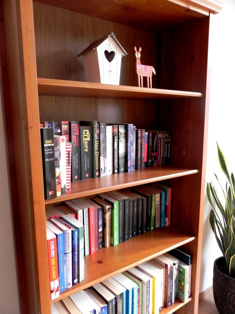 De boekenkast! Met hert.