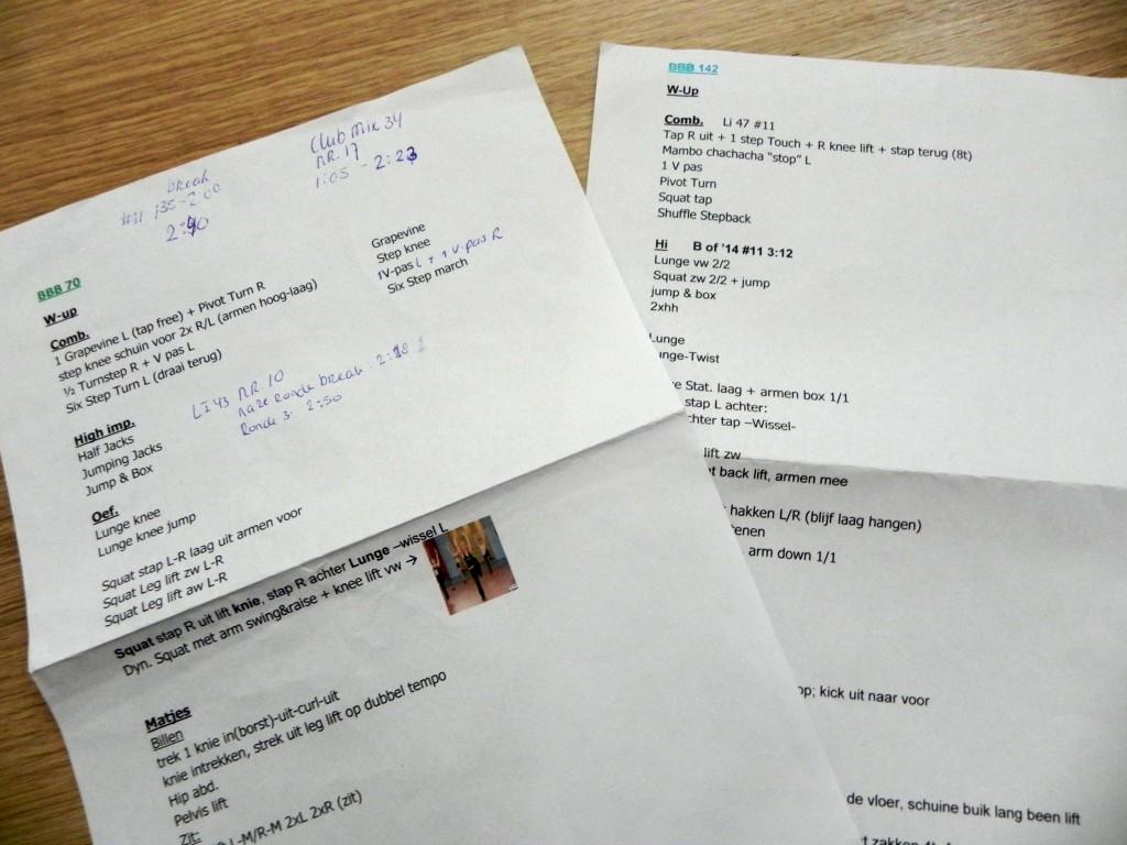 Lesvoorbereiding van BBB lessen