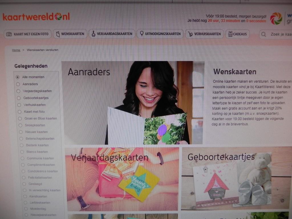kaartwereld.nl. winactie,la log