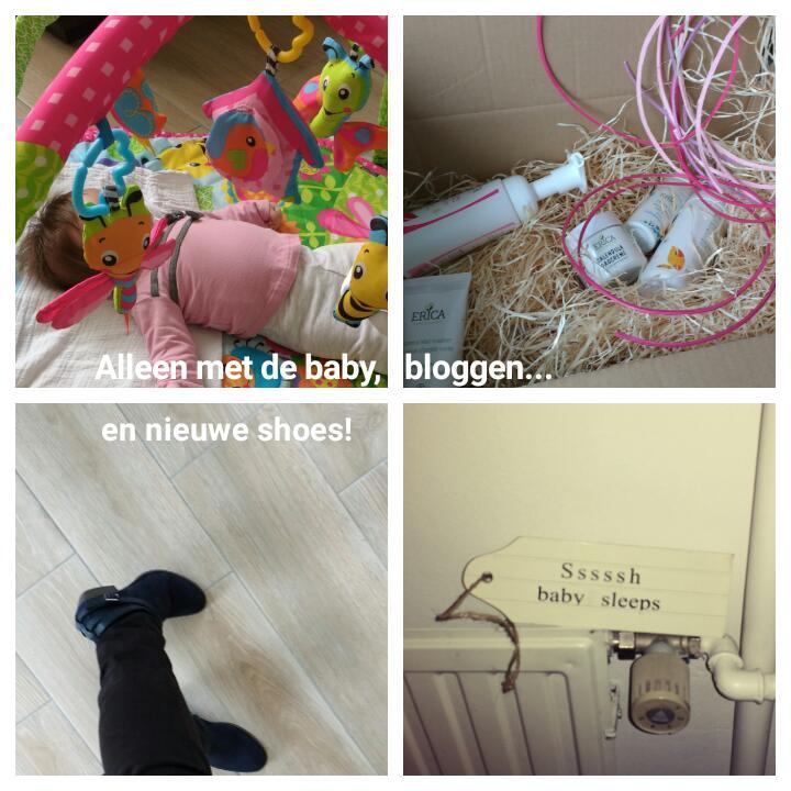 alleen met de baby bloggen en nieuwe shoes