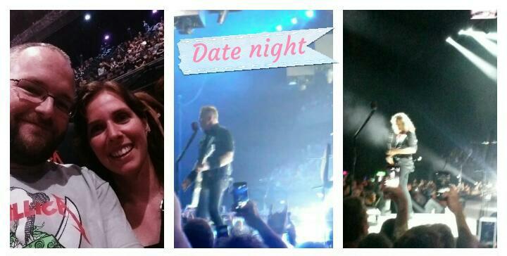 date night metallica concert en klappen krijgen
