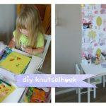 Gepersonaliseerde DIY kids knutselhoek!